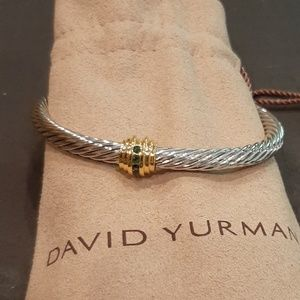 David Yurman Cable with Gold and Emerald